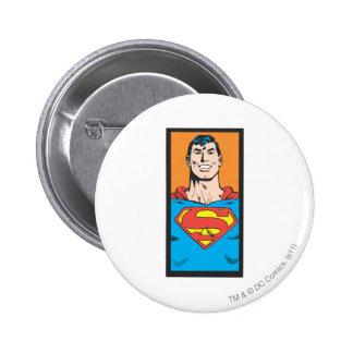 Superman Bust Frame 6 Cm Round Badge