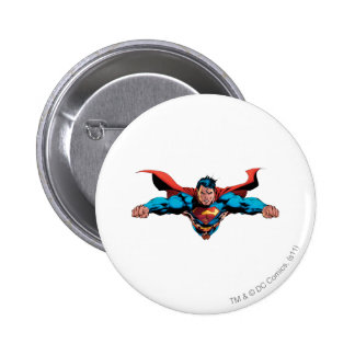 Superman cape flies 6 cm round badge