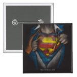 Superman Chest Sketch 2 Pins