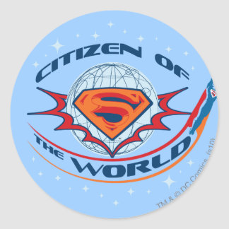 Superman Citizen of the World Round Sticker