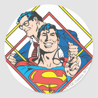 Superman/Clark Kent Round Sticker