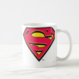 Superman Classic Logo Basic White Mug