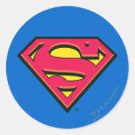 Superman Classic Logo Classic Round Sticker