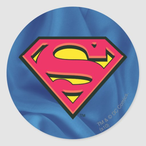 Superman Classic Logo Round Stickers