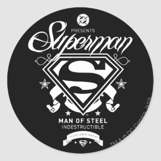 Superman Coat of Arms Round Sticker