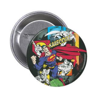 Superman Comic Black 6 Cm Round Badge
