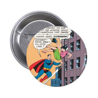 Superman Comic Panel - Accident-Prone Lois 6 Cm Round Badge