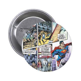 Superman Comic Panel - Clark's Origins 2 6 Cm Round Badge