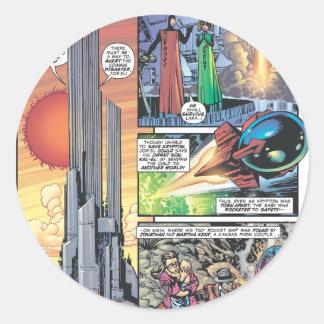 Superman Comic Panel - Clark's Origins Round Sticker