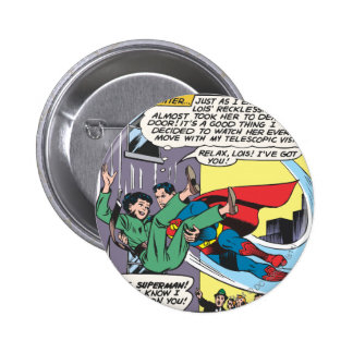 Superman Comic Panel - Lois An Instant Later 6 Cm Round Badge