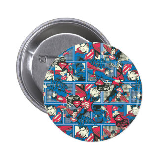 Superman Comic Pattern 6 Cm Round Badge