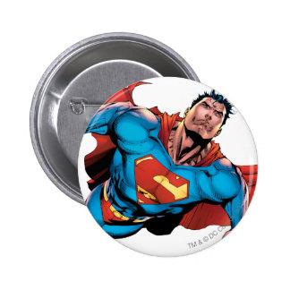 Superman Comic Style 6 Cm Round Badge