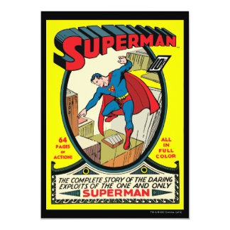 Superman (Complete Story) 13 Cm X 18 Cm Invitation Card