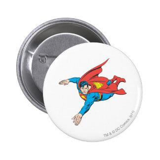 Superman Dives Left 6 Cm Round Badge