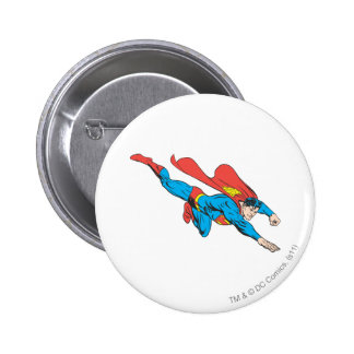 Superman Dives Right 6 Cm Round Badge