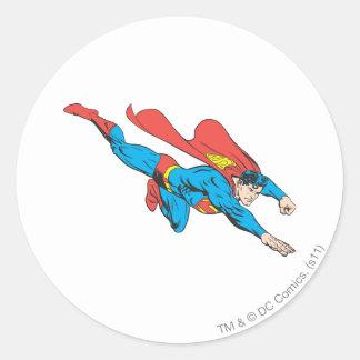 Superman Dives Right Round Sticker