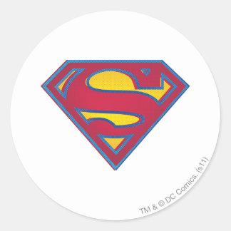 Superman dot logo round sticker