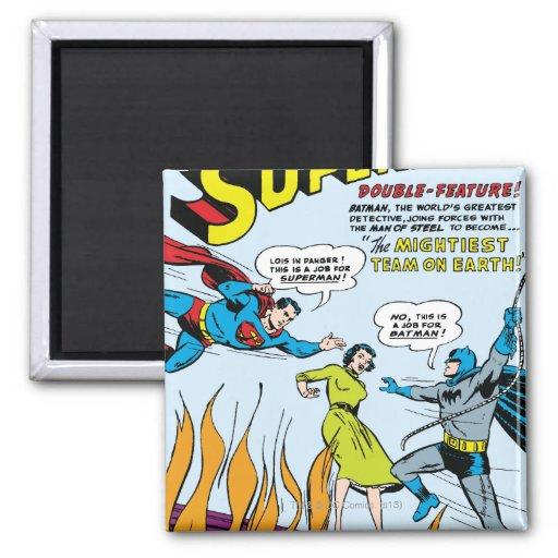 Superman (Double-Feature with Batman) Fridge Magnet