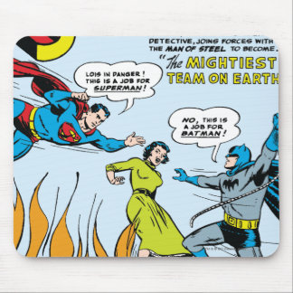 Superman (Double-Feature with Batman) Mouse Pad