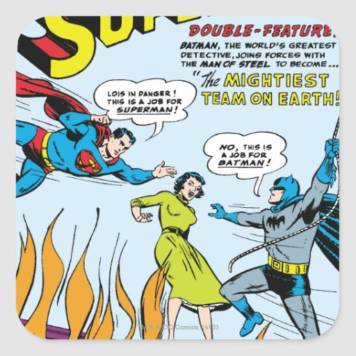 Superman (Double-Feature with Batman) Sticker