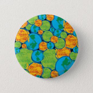 Superman Earth Collage 6 Cm Round Badge