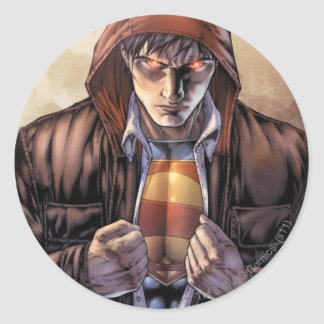 Superman Earth Cover - Color Round Sticker