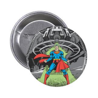 Superman Exposed to Kryptonite 6 Cm Round Badge