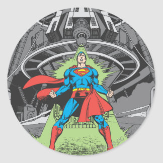 Superman Exposed to Kryptonite Round Sticker
