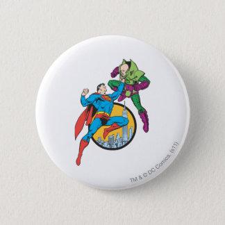 Superman Fights Lex Luthor 6 Cm Round Badge