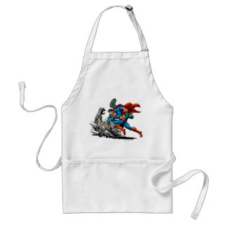 Superman Fights Monster Standard Apron