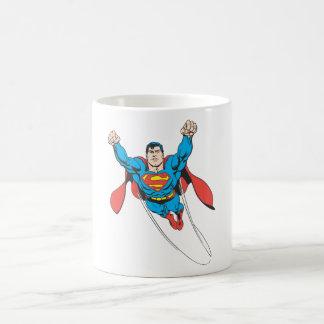 Superman Flies Forward Coffee Mug