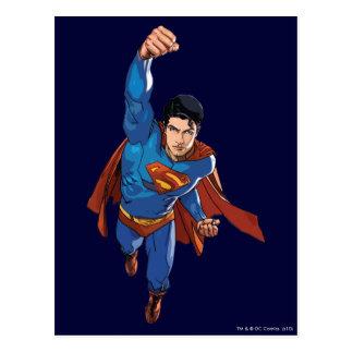 Superman Flying Forward Postcard