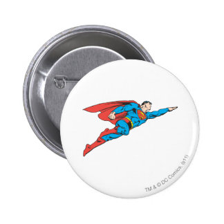 Superman Flying Right 6 Cm Round Badge