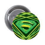 Superman Green Decorative Logo Buttons