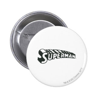 Superman Grunge Letters 6 Cm Round Badge