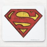 Superman Grunge Logo Mousepad