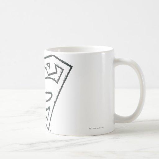 Superman Grunge Logo Mug