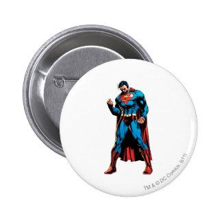 Superman  - Hand in fist 6 Cm Round Badge
