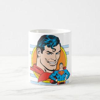 Superman Head Shot Basic White Mug