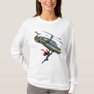 Superman holds helicopter T-Shirt
