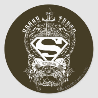Superman - Honor, Truth Round Sticker