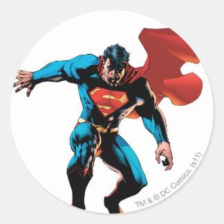 Superman in Shadow Round Sticker