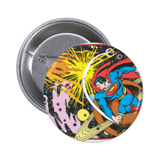 Superman in Space 6 Cm Round Badge