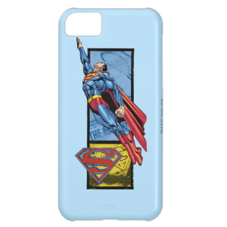 Superman jumps up with logo iPhone 5C case