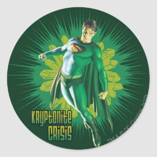 Superman Kryptonite Crisis Round Sticker