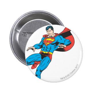Superman Lands Lightly 2 6 Cm Round Badge