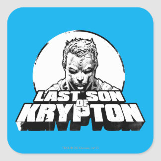 Superman Last Son of Krypton Square Sticker
