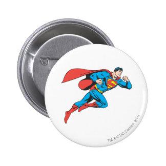 Superman Leaps Right 6 Cm Round Badge