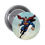 Superman leaps upward 6 cm round badge