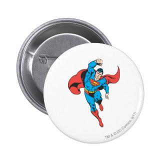 Superman Left Fist Raised 6 Cm Round Badge